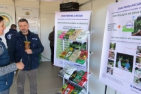 Emater-RS explica certificação de erva-mate a visitantes da Expointer