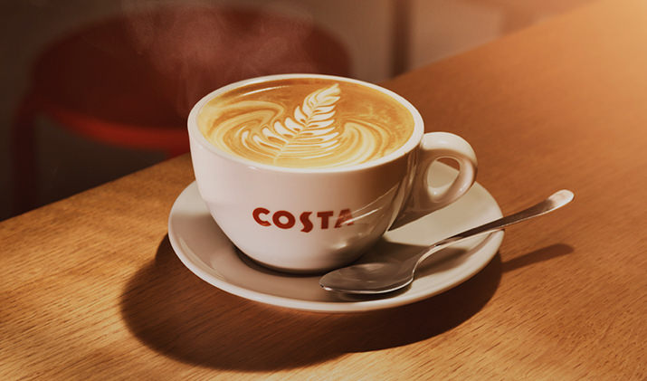 A Costa Cafés é vista como a grande rival da americana Starbucks no Reino Unido