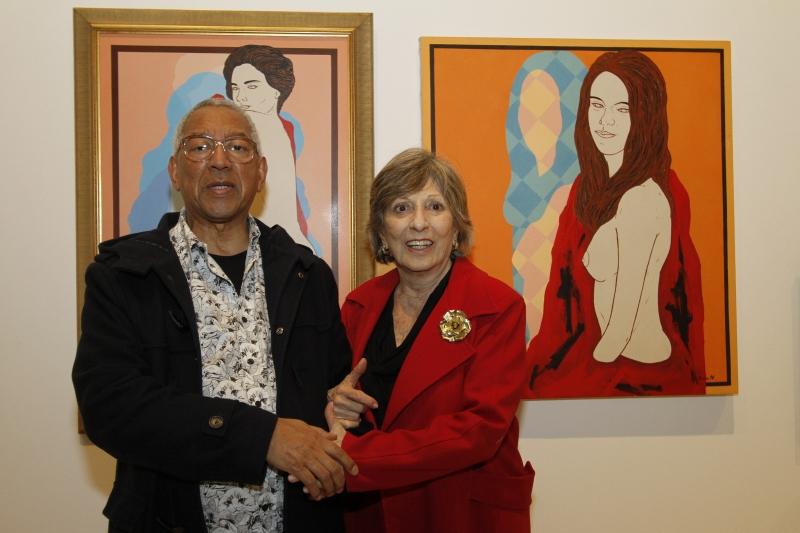 Renato Rosa e Ivette Brandalise na abertura da exposição