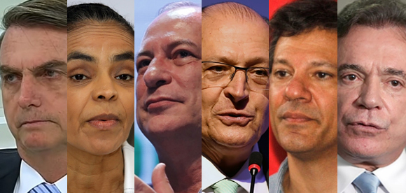Bolsonaro lidera, Ciro sobe e empata com Marina, e Alckmin e Haddad crescem dois pontos