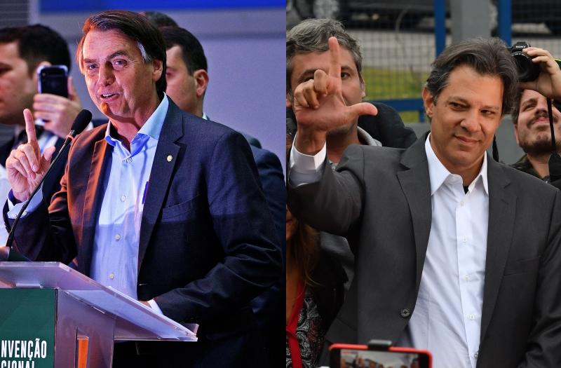 Em cenário de segundo turno, Bolsonaro aparece com 40%,  ante 38% de Haddad