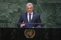 Em seu primeiro discurso na ONU, presidente cubano critica prisão de Lula
