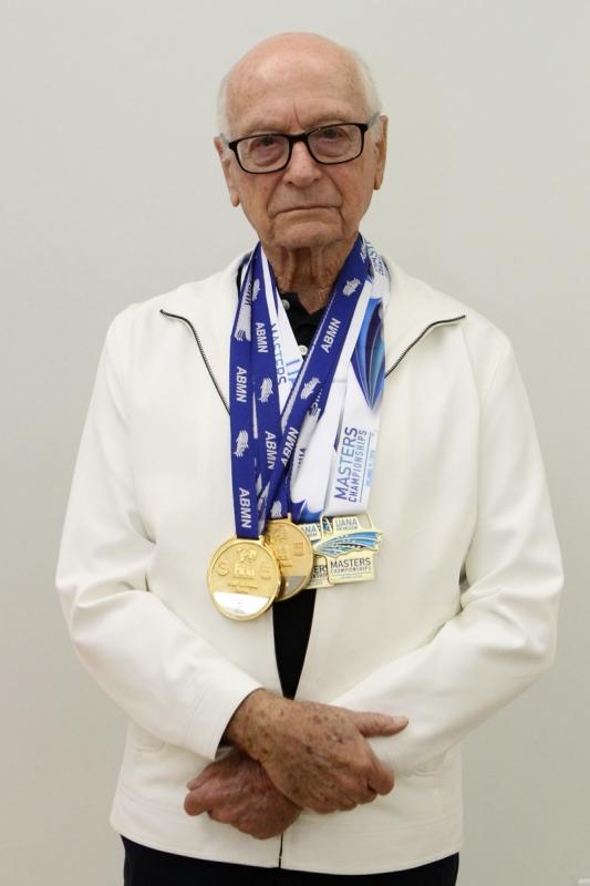 Biedermann já tem um objetivo traçado para 2019, quando completa 95 anos: bater um recorde mundial de natação