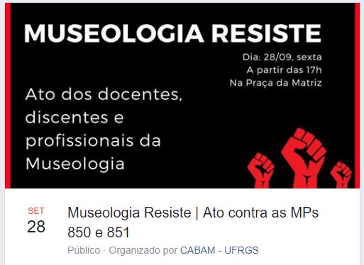 Ato promove abraços em museus e encerramento na Praça da Alfândega