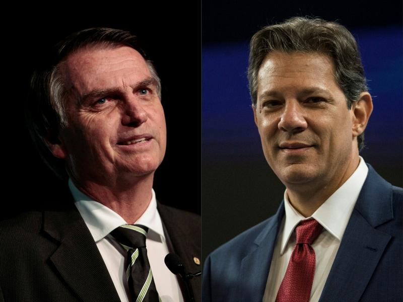 Vantagem de Bolsonaro sobre Haddad abriu espaço para investidores