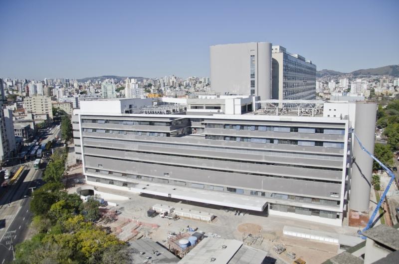 Conforme o cronograma da instituição, a primeira área a ser ocupada é a nova emergência do hospital