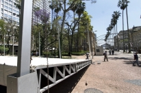 Montagem das estruturas da 64ª Feira do Livro de Porto Alegre está em processo de conclusão