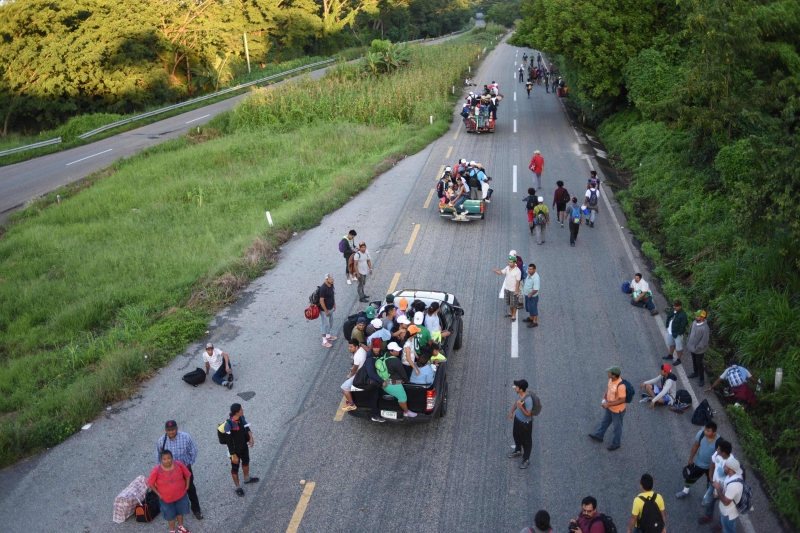Grupo saiu em marcha de Honduras no dia 13 de outubro