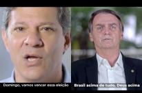 Bolsonaro ataca corrupção e Haddad prega paz no último dia do horário eleitoral