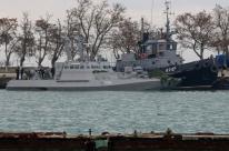 Ucrânia declara lei marcial após captura de navios pela Rússia