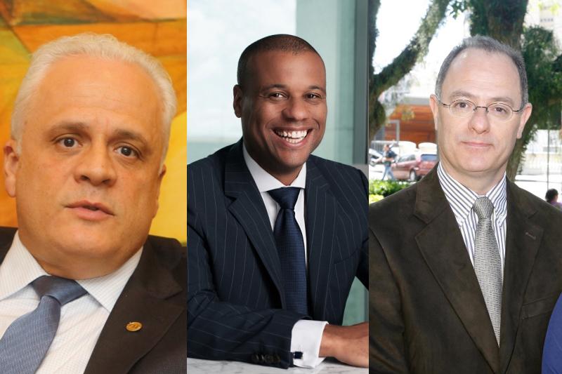 Breier (esquerda), Petri da Silva (centro) e Torelly estão na disputa pela presidência da ordem dos advogados