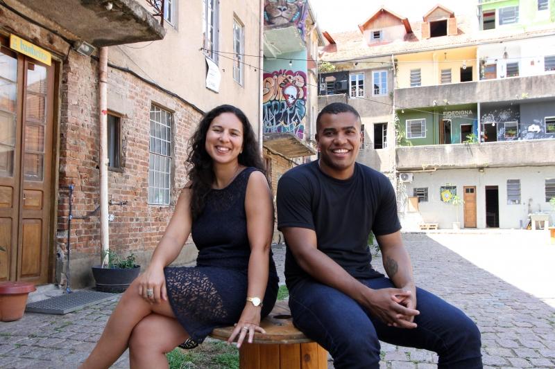 Vila Flores será o ponto de encontro do Afro'n'talks, organizado por Denise Denicol (à esq.) Anderson Coelho (à dir.) e Andreza Rocha
