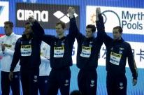 Com Cielo, Brasil leva bronze no revezamento 4x100 no Mundial
