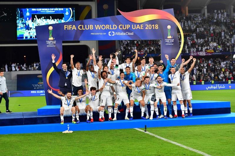 Merengues comemoraram o terceiro título seguido do Mundial