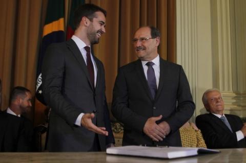 Eduardo Leite faz elogios a José Ivo Sartori