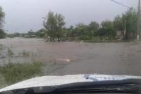 Chuva intensa causa uma morte e estragos na Campanha e no Oeste gaúcho