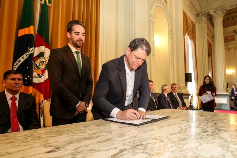 Tarcísio Gomes de Freitas disse que as parcerias com o setor privado devem se acentuar nos próximos meses