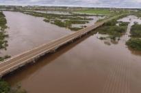 Cheias provocadas por fortes chuvas mudam paisagem na Fronteira Oeste gaúcha