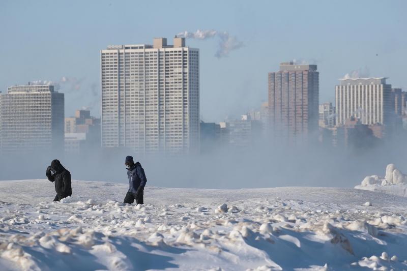 A sensação térmica deve ficar entre -32°C e -48°C na região do meio-oeste americano
