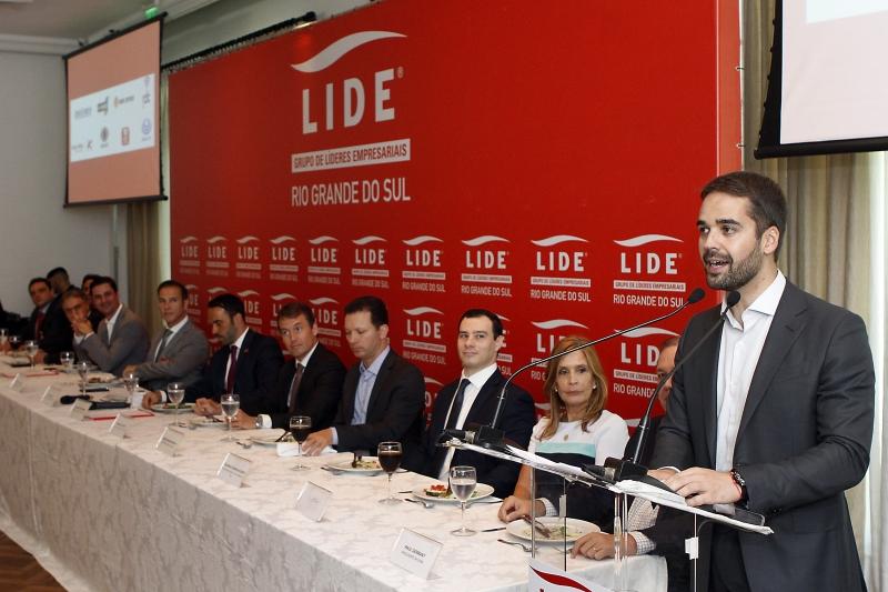 Governador anunciou medida inusitada durante participação de evento da Lide-RS