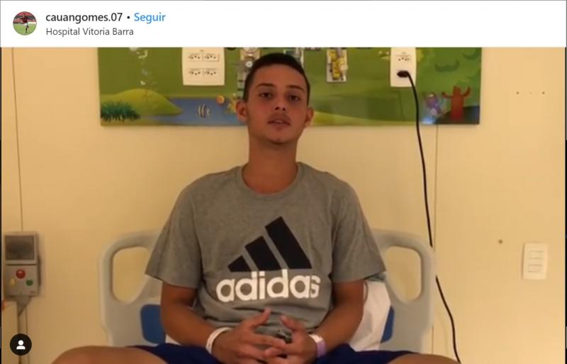 Jovem foi um dos sobreviventes do incêndio que atingiu na sexta-feira (8) o CT do Flamengo
