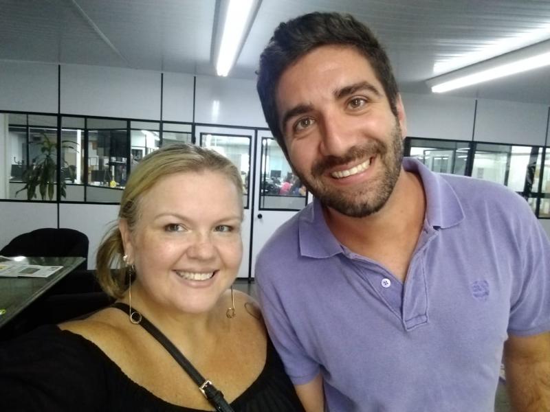 Mauren e o editor do GE, Mauro