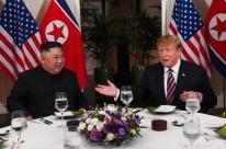 Kim Jong-un é um 'grande líder', diz Trump em cúpula com norte-coreano