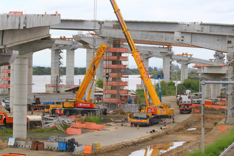 Por segmentos, o de obras de infraestruturas registrou a maior elevação do ICST