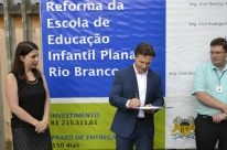 Obra na Escola Planalto Rio Branco tem início formalizado