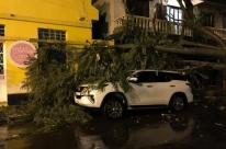 Temporal destelha casas e causa deslizamento em Cruz Alta
