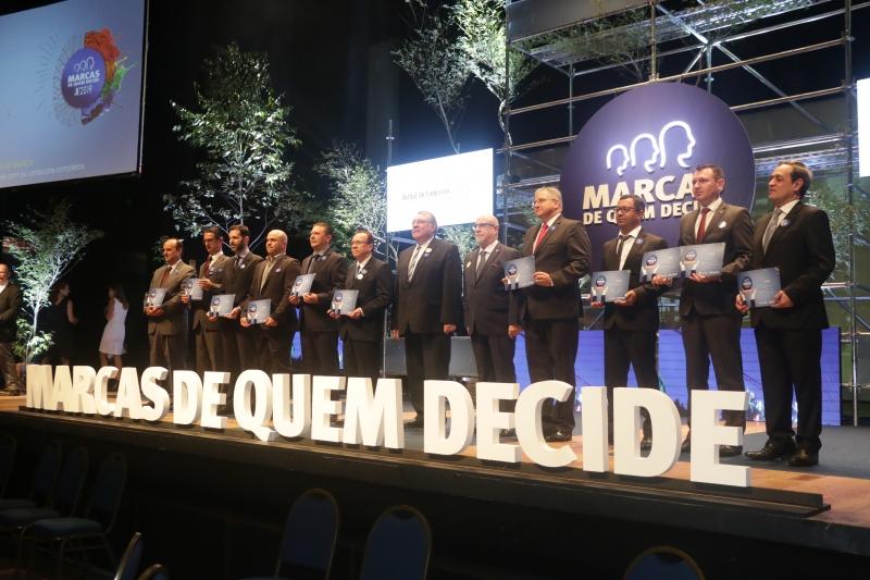 Representantes das marcas que despontaram no levantamento subiram ao palco do Teatro do Sesi