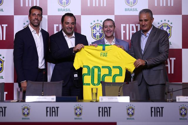 Patrocínio da Fiat abrange todas as seleções de futebol do Brasil