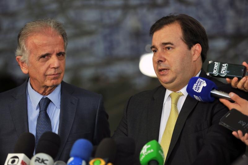 residente da Câmara dos Deputados, Dep. Rodrigo Maia, recebe o presidente do TCU, Ministro José Múcio Monteiro Crédito Agência Camara Divulgação.