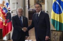 Bolsonaro chega ao Palácio presidencial chileno para encontro com Piñera
