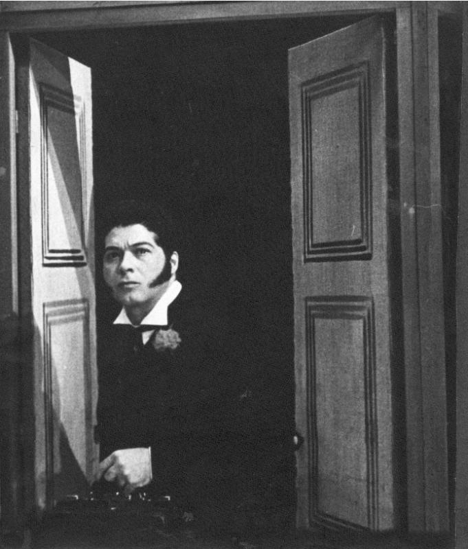 Ivo Bender personificado como Qorpo-Santo no palco, em 1968