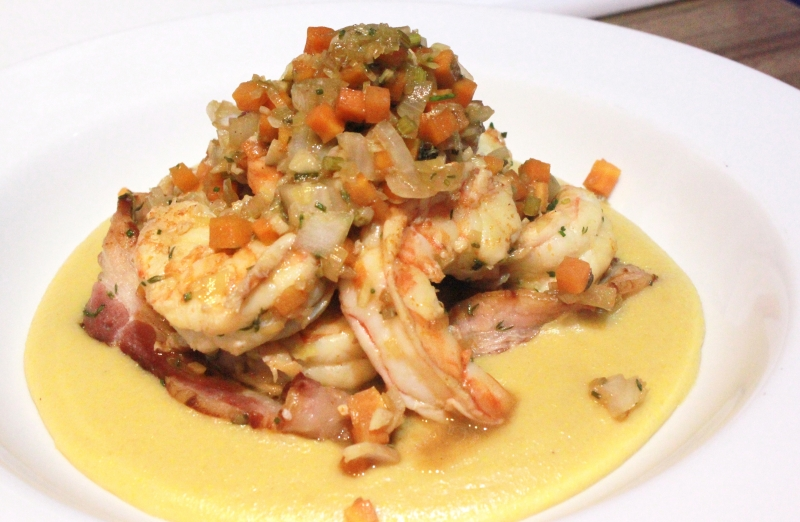 Shrimp and Grits, do chef Bruno Ivanoff