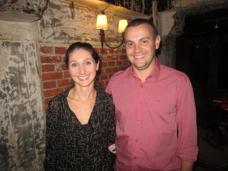 Nicole Facin e Rodrigo Facin na Cantina Famiglia Facin