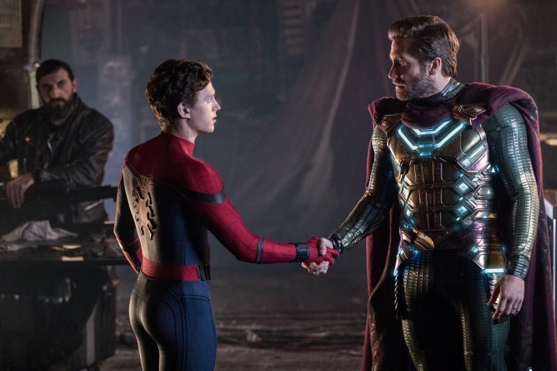 Tom Holland e Jake Gyllenhaal em 'Homem-Aranha: longe de casa'