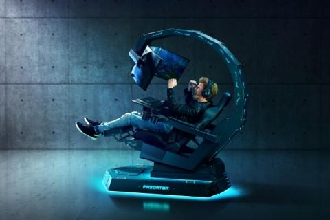 Cadeira imersiva da Acer é atração para gamers