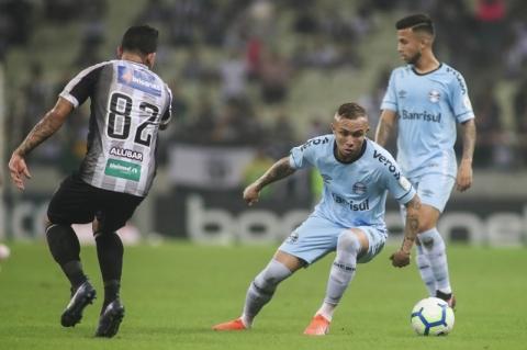 Grêmio perde para o Ceará e segue na zona de rebaixamento