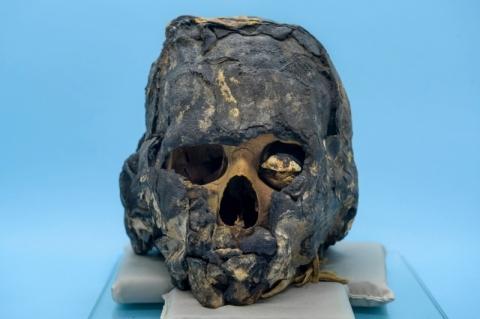 Múmia egípcia de Cerro Largo será exibida em mostra na biblioteca da Pucrs