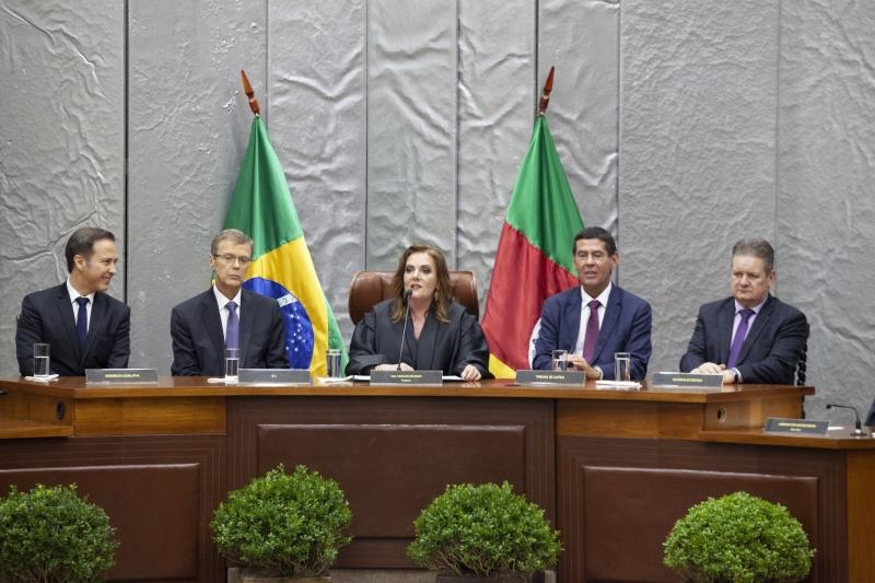 Marilene Bonzanini foi empossada como presidente do Tribunal Regional Eleitoral (TRE)