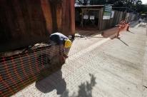 Chuva atrasa conclusão da reforma da praça no bairro Santana