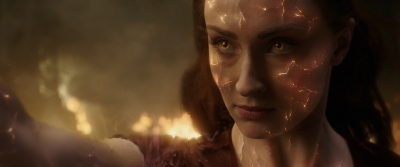 Sophie Turner interpreta Jean Grey, a Fênix Negra, no filme final da franquia X-men