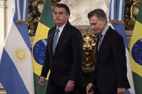 Bolsonaro chega à Casa Rosada, em viagem oficial à Argentina