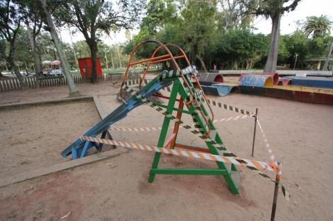 Playgrounds da Redenção começam a ganhar novas cores