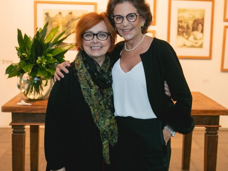 Margarida Peixoto com a autora Anna Mariano no CMC