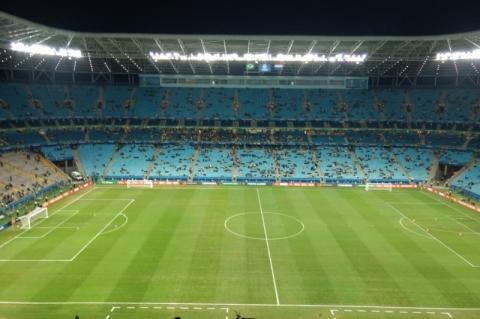 Jogo pelas quartas de final tem poucos paraguaios na Arena