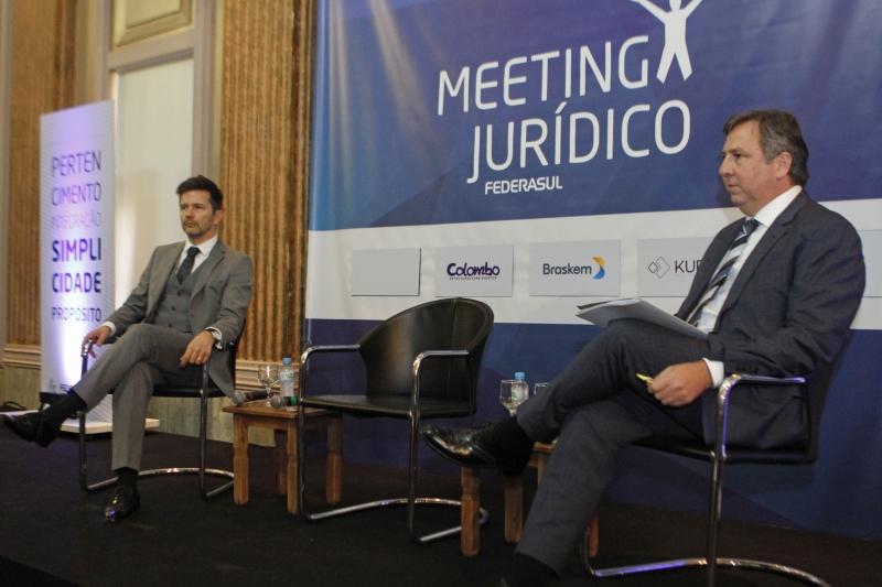 Leandro Paulsen (e) e Luciano Feldens discutiram criminalização da inadimplência