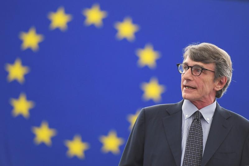 "Sassoli chamou os europeus a conter o ""vírus"" do nacionalismo extremista"
